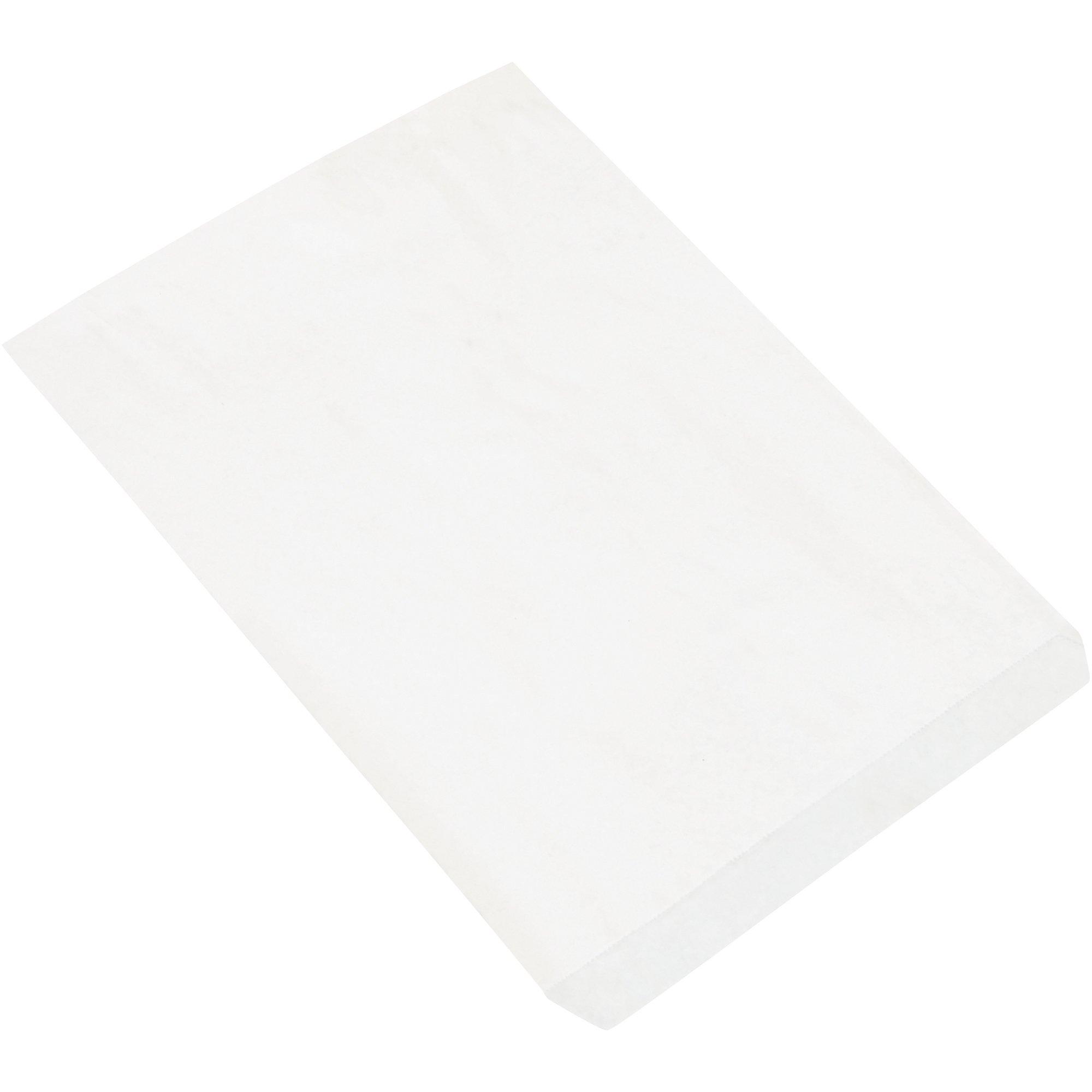 Flat Merchandise Bags, 10'' x 13'', White, 1000/Case