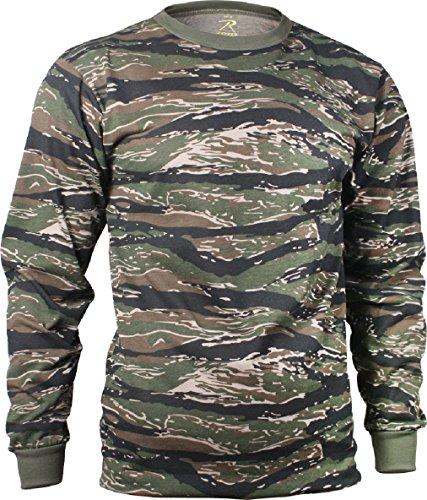 Tactical Camo Long Sleeve T-Shirt Military Camouflage Crew-Neck Tee Undershirt