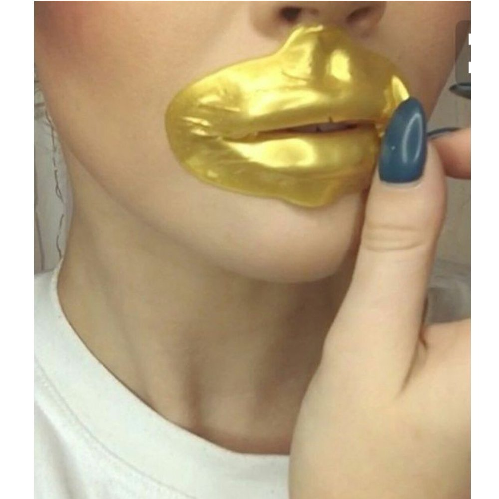 Ardisle 10 x Lip Gel Patch Mask Beauty Collagen Gold Anti Wrinkle plush Plumper Plump Pump Pout Fuller Looking Lips Thicker Brighter Moisturizing Patch Patches Sheet Beauty Golden Filling Dry Perfect Pads Cooling Refresh Refreshing Area Relaxing Effect Sl