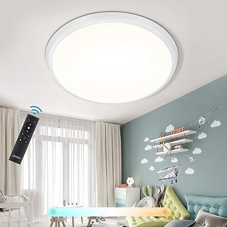 Oeegoo Led Plafondlamp Dimbaar 36 W Led Plafondlamp Met Afstandsbediening 4000 Lumen Ip54 Ledlamp Voor Badkamer Eetkamer Woonkamer En Kinderkamer Amazon Nl