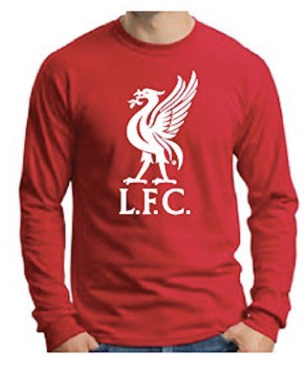 279ad8dec3d Amazon.com   Anfield Shop Liverpool FC Liverbird Red Long-Sleeve T-Shirt  (2XL)   Sports   Outdoors