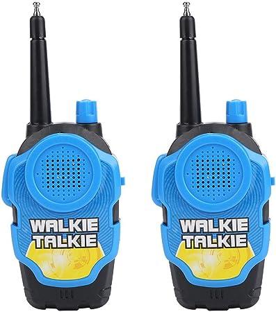 Fdit Walkie Talkie Giocattoli a Due Vie a Lungo Raggio Voce attivate Bambini Finta Gioca Kid Regalo Presente 2 PCS Blu