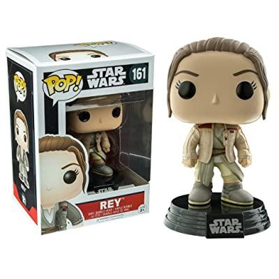 Pop Funko Star Wars Rey #161 (w/ Finn's Jacket Exclusive): Toys & Games