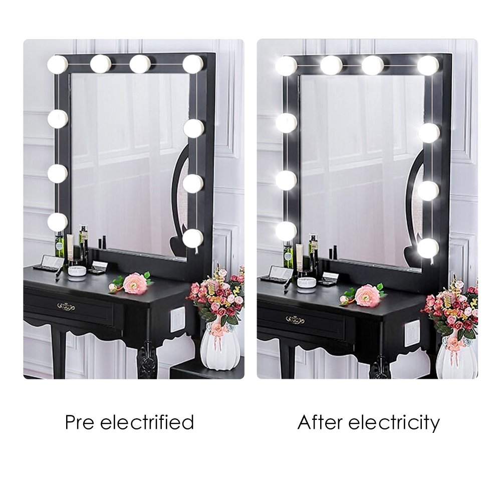 hollywood style led vanity makeup mirror lights kit with touch 10 dimmable light 706352981683 ebay. Black Bedroom Furniture Sets. Home Design Ideas