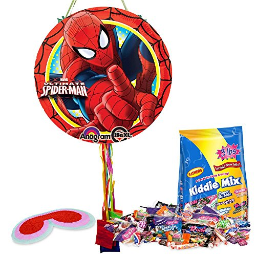 Ultimate Spiderman Pull String Pinata Kit - Party Supplies