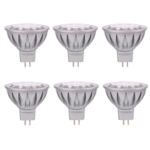 ALIDE MR16 Led Bulbs GU5.3 12V 7W,Replace 50W Halogen Equivalent,6000K Daylight Cool Bright White Bulb Spotlight for Kitchen Home Track Ceil Recessed Accent Lighting,Not Dimmable,50MM,560lm,38°,6pcs