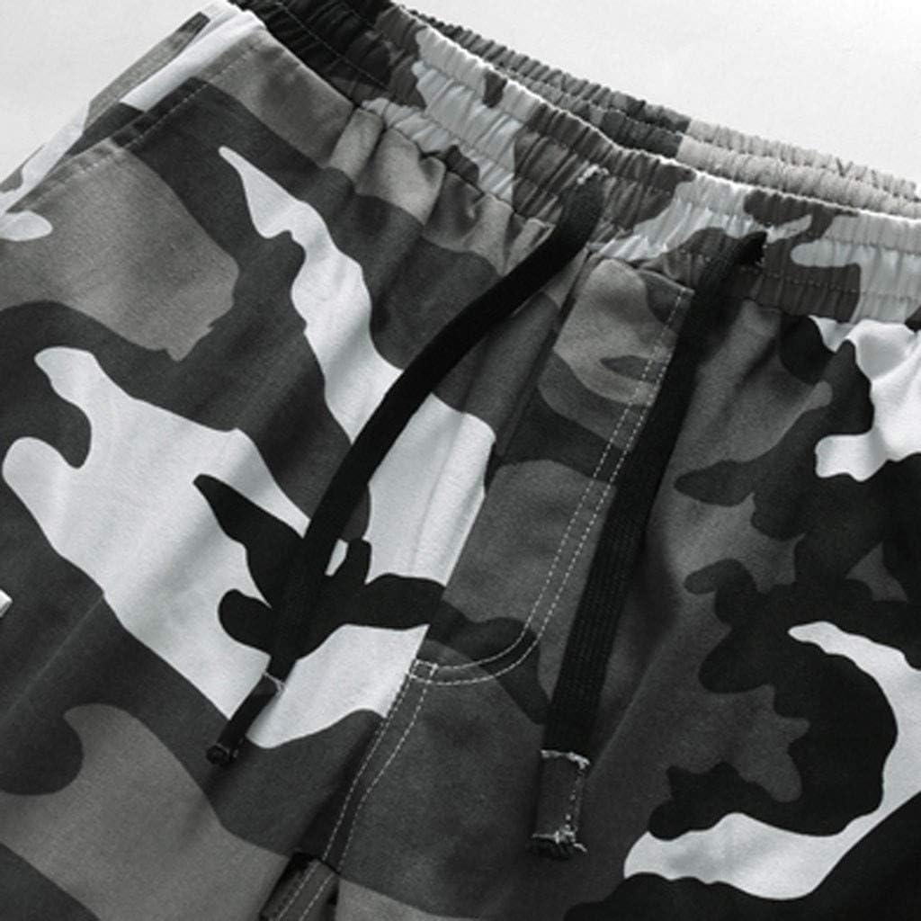 Alangbudu Mens Camo Cargo Shorts Relaxed Fit Multi-Pocket Camouflage Big /&Tall Jammer Side Hiker Elastic Waist Drawstring