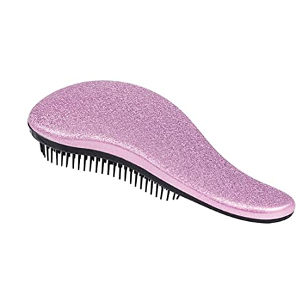 HittecH Detangler Comb Handle Detangling Brush Shower Hair Brush Styling Salon Tamer Manufacturer Directly (Purple)