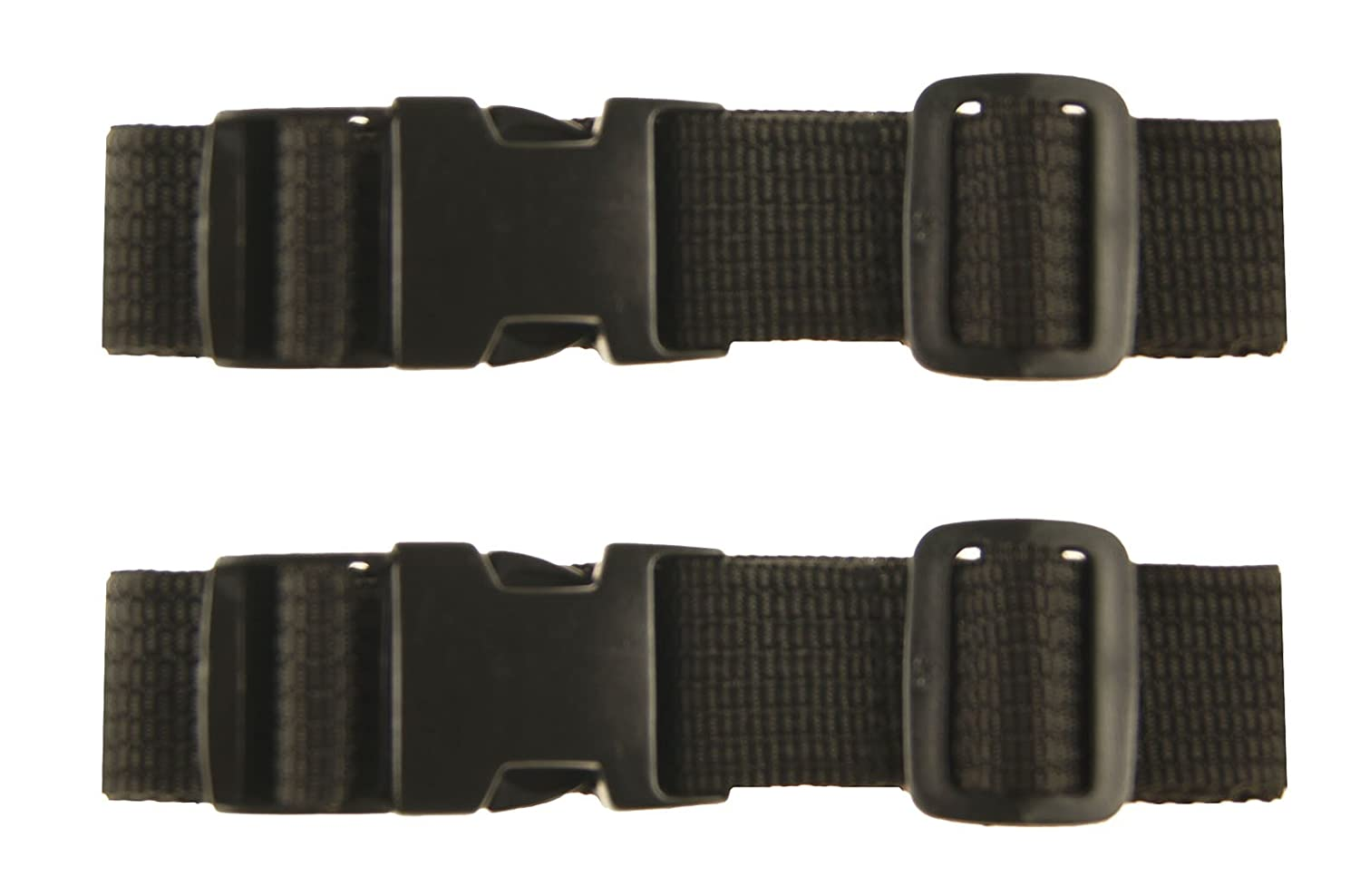 AG Wallets Set of Two Add A Multi Bag Stacker Travel Luggage Strap Black