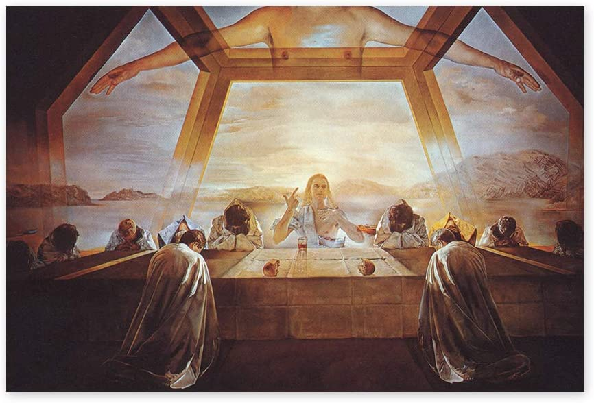 Funny Ugly Christmas Sweater The Sacrament of The Last Supper Poster Art Dali Fans Gifts Printed Art Wall Decor for Kitchen Colorful Artwork Salvador Dali Masterpiece 8