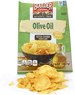 product image for Boulder Canyon Olive Oil/Sea Salt Kettle Chip 1.75 oz., Pack of 8