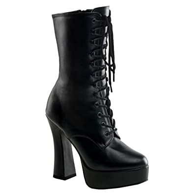 9dc82faf43 Amazon.com | 5 Inch Hot Gothic Ankle Boots Stack Heel w/ 1 1/2 Inch ...