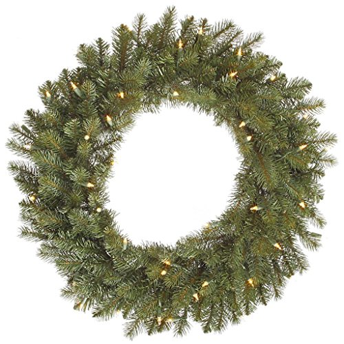 - Vickerman A164343 Colorado Spruce Dura-Lit Wreath with Clear Lights - 42 in.