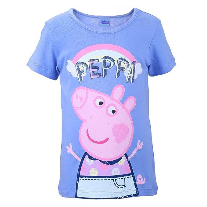 Rosa Peppa Pig Ragazze T-Shirt Maglietta