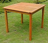 International Caravan TT-VN-0128-Tbl-IC Furniture Piece Royal Tahiti Outdoor Wood 32″ Square Table
