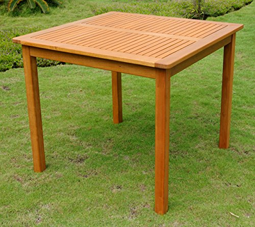 "International Caravan TT-VN-0128-Tbl-IC Furniture Piece Royal Tahiti Outdoor Wood 32"" Square Table"