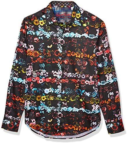 Robert Graham Camisa tejida Technicolor LS para hombre