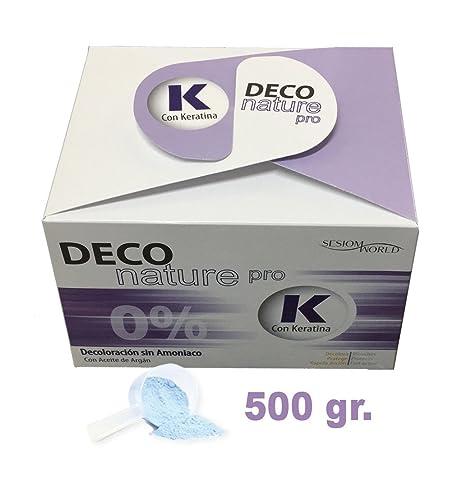 Decoloración DECO NATURE PRO 0% Sin Amoniaco con Keratina y Argán sesioMWorld 500gr.