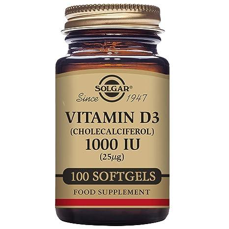 Solgar Vitamina D3 1000 UI (25 µg) Cápsulas blandas - Envase de 100
