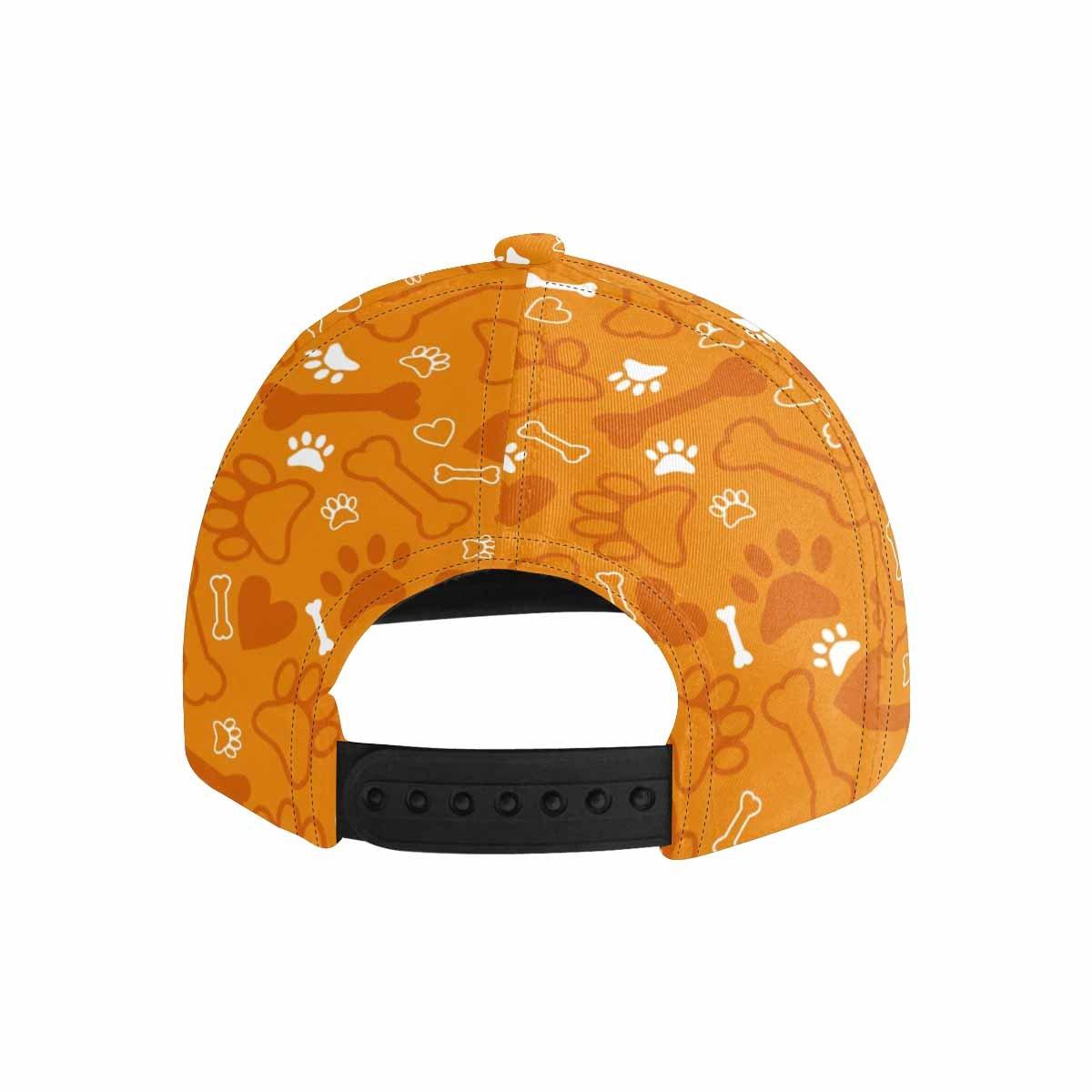 InterestPrint Unisex Hip Hop Snapback Hats Dog Paw Bone