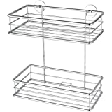 Nie Wieder Bohren BT230P Baath Plus Double Basket Shelf for Shower with Never Drill Again Special Attachment Technique - Chrome-Plated