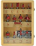 Freud 91-100 13-Piece Super Router Bit Set with 1/2-Inch Shank and Freud's TiCo Hi-Density Carbide