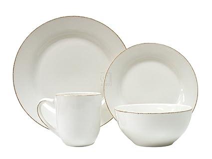 Thomson Pottery Sonoma White 16 Piece Dinnerware Set  sc 1 st  Amazon.com & Amazon.com | Thomson Pottery Sonoma White 16 Piece Dinnerware Set ...