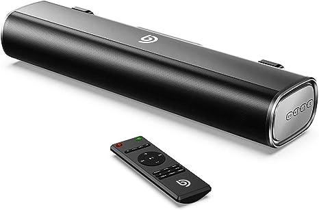 Mini Barra de Sonido 2.0 Canales para TV/PC, BOMAKER 50W Mini Soundbar Portátil Inalámbrico, Altavoces Bluetooth 5.0 con Control Remoto, Tapio I, Soporte Conexiones de Ópticos/USB/AUX - Negro: Amazon.es: Electrónica