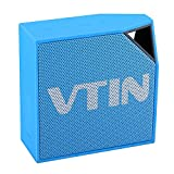 Vtin Cuber Waterproof Speakers Bluetooth 4.0 Speakers with 5W Audio Driver and IP67 Waterproof Design for iPhone and Other Smart Phones-Blue