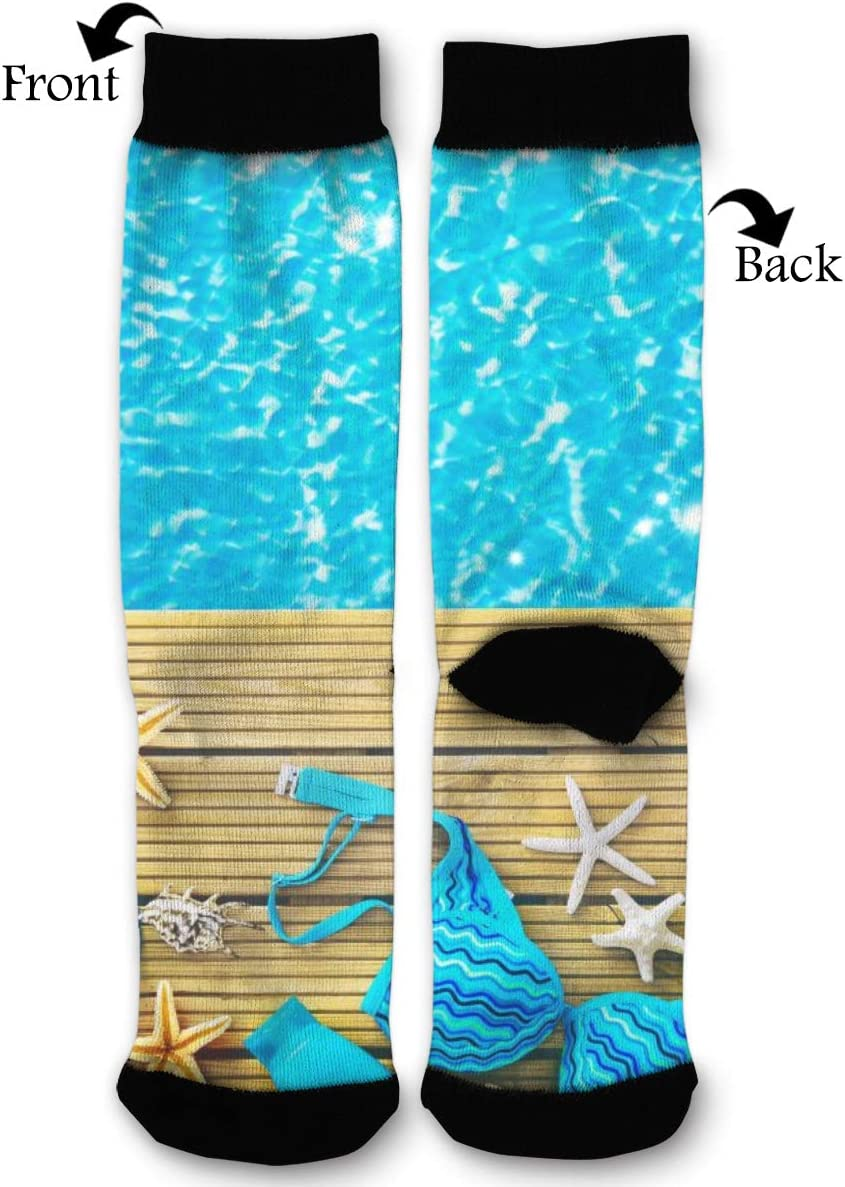 BLongTai Knee High Compression Socks Summer Water for Women and Men Sport Crew Tube Socks