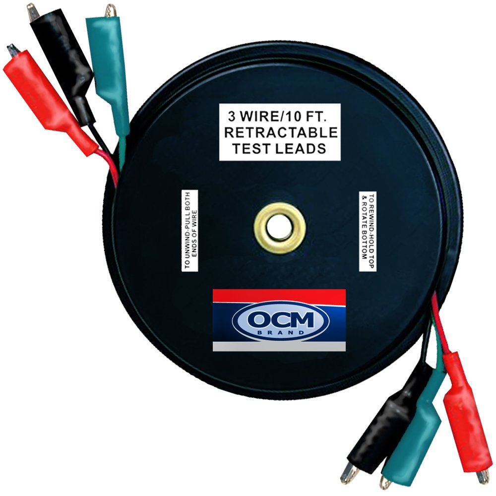 Retractable Wiring Library Scooter Diagram Also Razor E150 Electric Amazoncom Ocm 3 Wire Test Leads 18 Gauge Electrical Copper