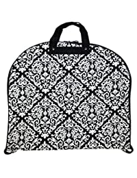 Ever Moda Black Damask 40-inch Hanging Garment Bag