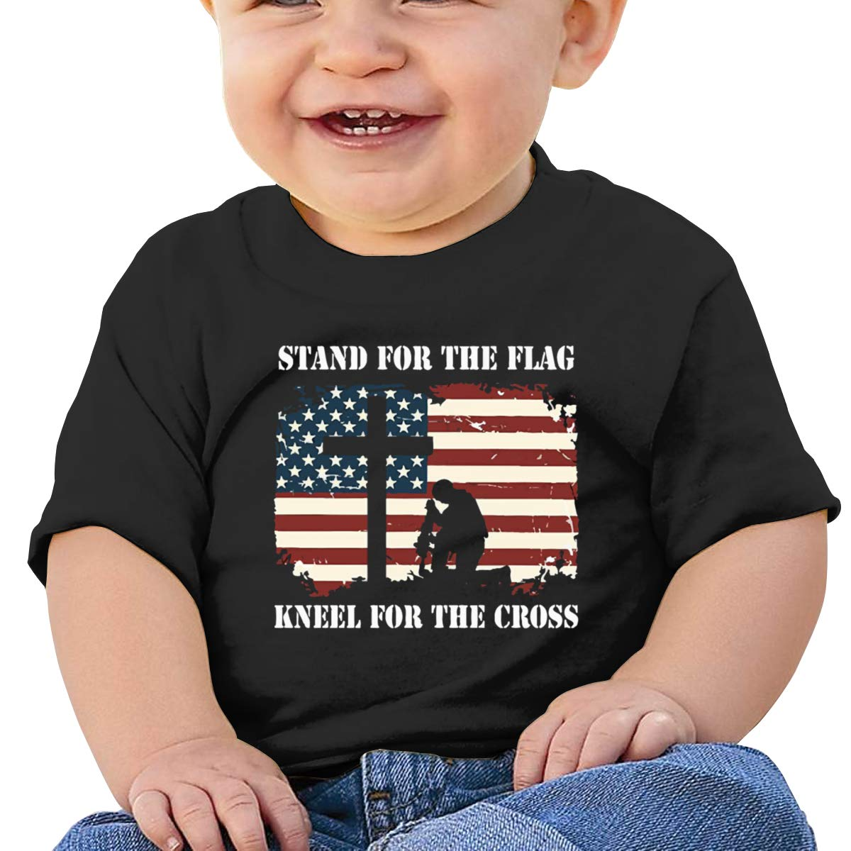 Stand for The Flag and Kneel for The Cross T-Shirts Baby Boy Infant