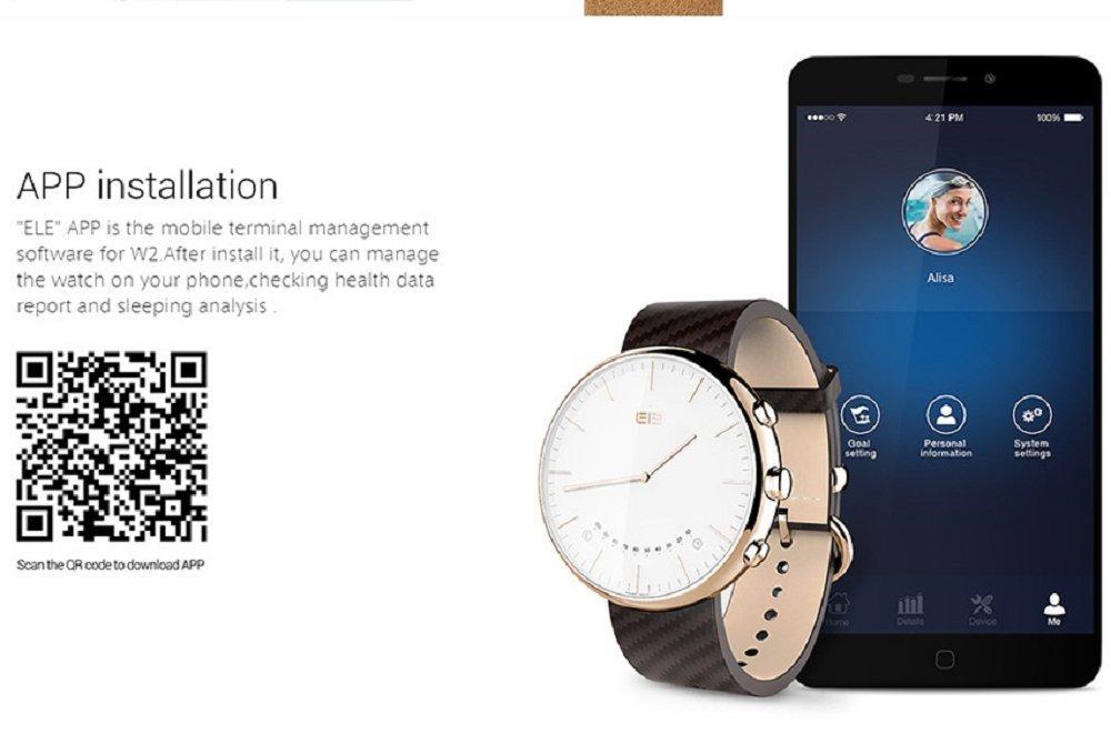 elephone Official Store Movimiento Ronda ELE W2 SmartWatch ...