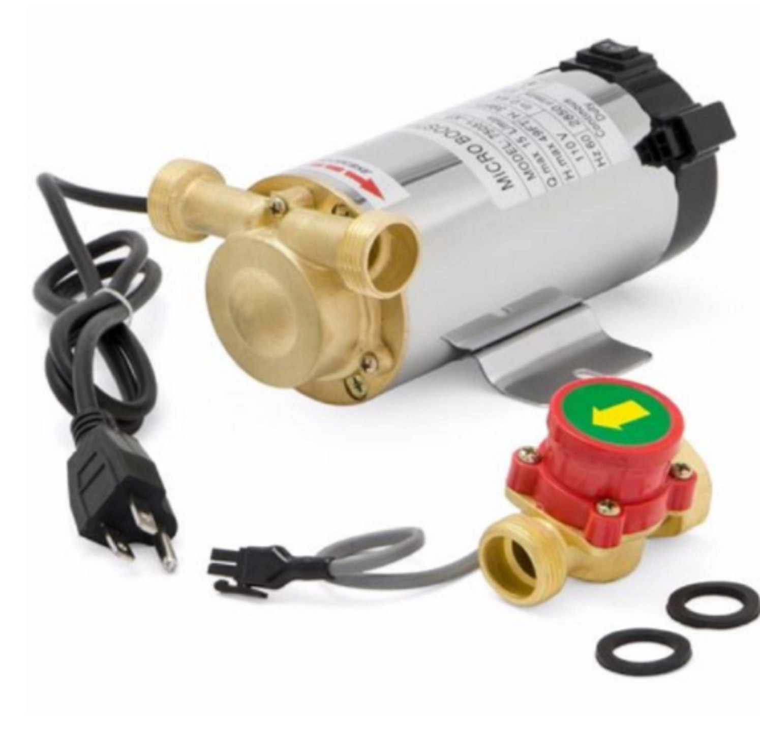 USA Premium Store 100 watt Self Priming sink facucet Shower Pressure Water Booster Stainless Pump by USA Premium Store