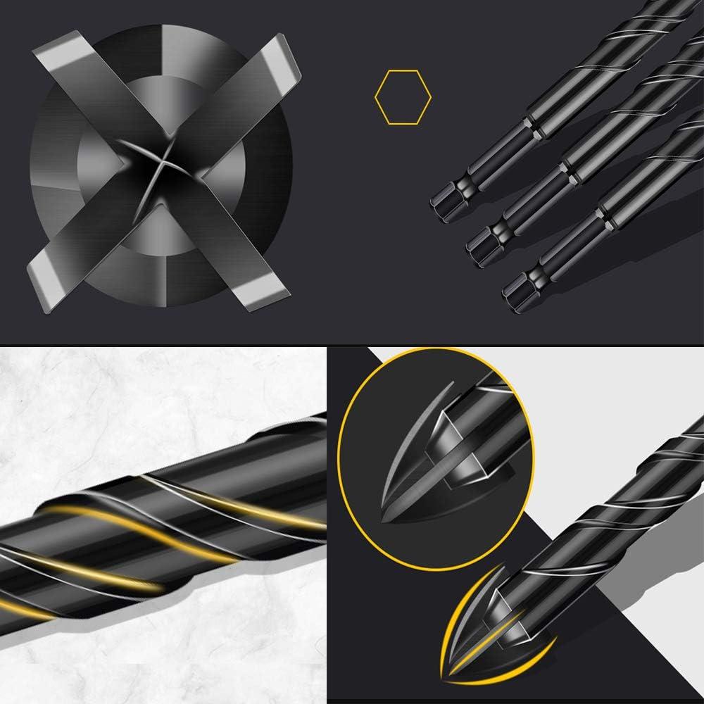WOOD,etc,5PCS CONCRETE CEMENT Carbide drill Bit for TILE Masonry Drill Bits Set ,Tile Drill Bits Set,Glass Drill and Concrete Drill Bit BRICK GLASS PLASTIC CINDERBLOCK