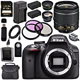 Cheap Nikon D3300 DSLR Camera with AF-P 18-55mm VR Lens (Black) + EN-EL14 Replacement Lithium Ion Battery + External Rapid Charger + Sony 64GB SDXC Card + Carrying Case Bundle