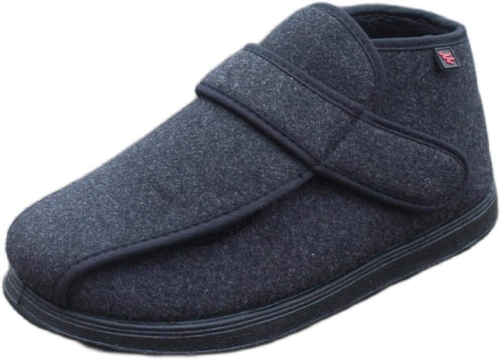 B/H Zapatos ortopédicos quirúrgicos para Mujeres,Zapatos de pies hinchados para Personas de Mediana Edad y ancianos-40_Black, Ajustable de Velcro Zapatos