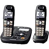 Panasonic KX-TG6592T 2-Handsets Cordless Phone,  Titanium Black