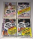 Lot of 4 Topps Baseball Cello Packs 1982, 1983, 1984, 1985 - 112 Cards Total