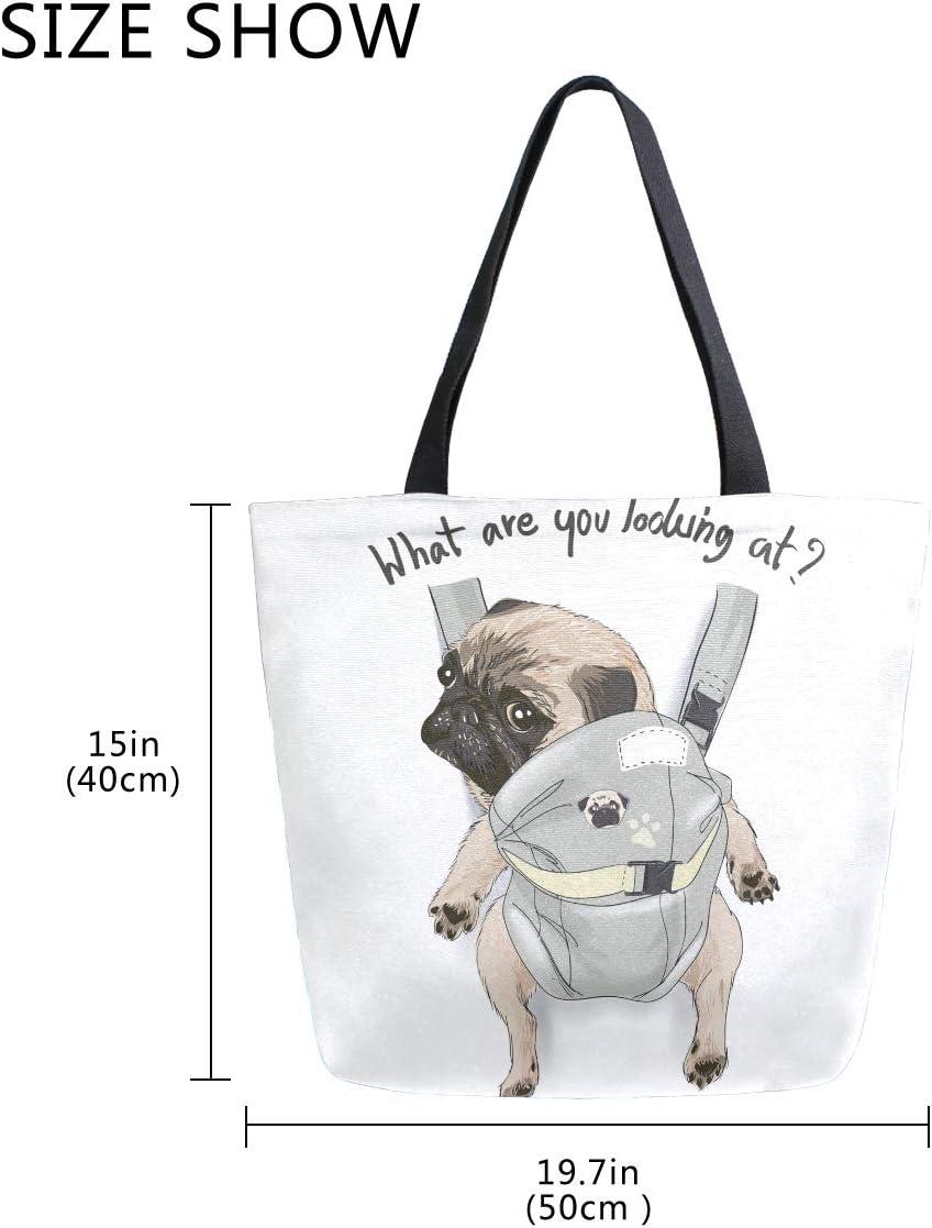 Beach Bag Dog Moms Diaper Bag Totes Pug Moms PUG Dog Gifts Dog Diaper Bag Dog Tote Bag Dog Tote Pug dog