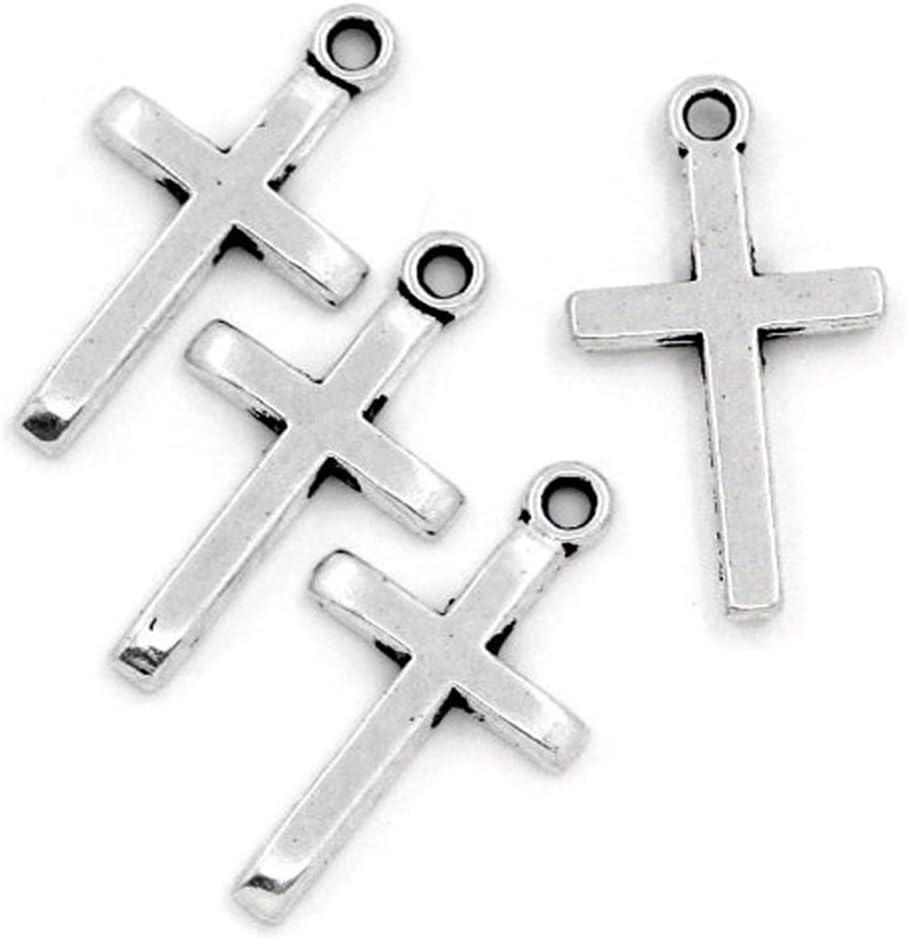 20 x Tibetan Silver CROSS CROSSES Charms Pendant beads