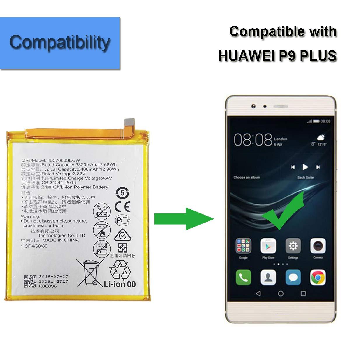 Batería de Repuesto de Ion de Litio HB376883ECW Compatible con ...