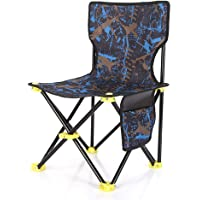 Camping Folding Chair Collapsible Stool for Beach Fishing Sketching Hiking Outdoor Portable Fishing Chair Oxford Cloth…