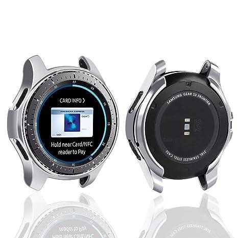 Coque de Protection Oenfoto Samsung Gear S3 Frontier SM-R760, Souple, plaquée TPU