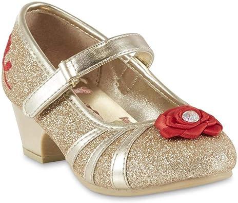 Girls Belle Gold Glitter Dress Shoe