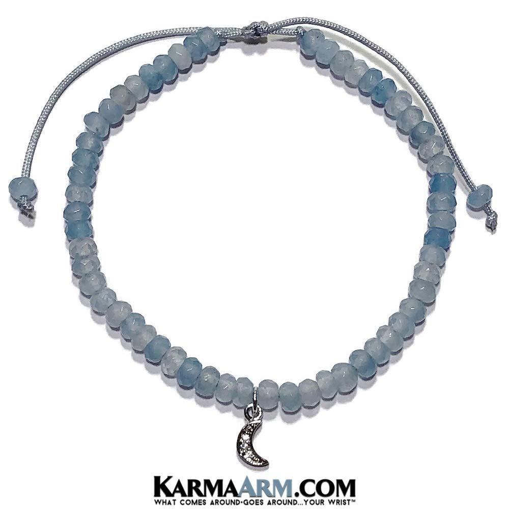 Light Blue Jade Adjustable Reiki Meditation Lucky Knot Bracelet KarmaArm Moon Charm Bracelet Tiny Treasures 6