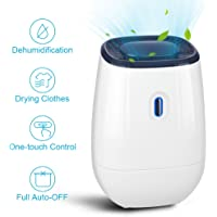 Dehumidifier   41oz Capacity Electric Dehumidifier Portable Mini Air  Dehumidifiers Auto Quiet Up To 220 Sq