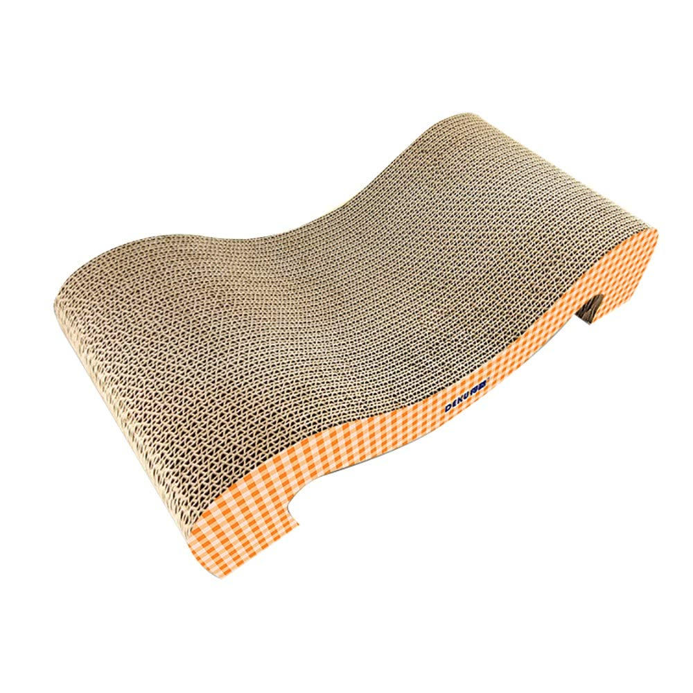 orange Hyue Corrugated M-Shaped cat Scratch Board wear-Resistant Bite Resistance Cat Claw Toy Save Your Furniture (color   orange)