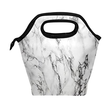 Amazon com: WOZO Gray Stone Marble Texture Insulated Lunch